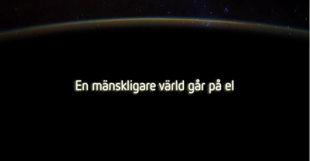 EN MÄNSKLIGARE VÄRLD GÅR PÅ EL